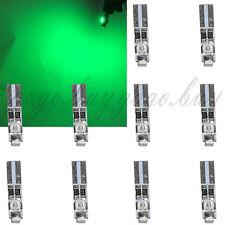 10 x Green 58 70 73 74 T5 Dashboard Gauge License Plate 3 3528 SMD LED Bulb Ligh