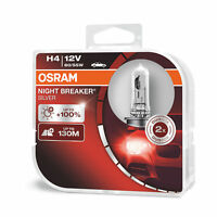New! Osram H4 Night Breaker SILVER Upgrade Headlight Bulbs (x2) 64193NBS-HCB 472
