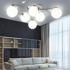 Esszimmer Decken Lampe 6 X 65 Watt LED Glas Kugel Leuchte 3600 Lumen EEK