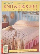 MCCALLS KNIT CROCHET FOR THE HOME VOL 35 1989 AFGHANS CURTAINS DOILIES GIFTS BED