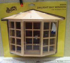 Dolls House 1:12th Scale Wooden 24-Light Bay Window From Houseworks