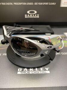 !! Oakley Eye Jacket Redux Silver Frames Prizm Polarized Lenses Fast Free S/H ==