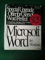 Vintage Microsoft Word for Windows 2.0 Upgrade Floppy Set