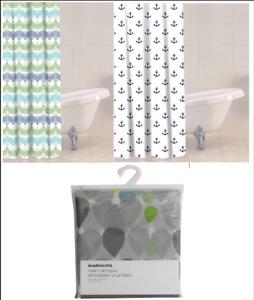 Modern Design Shower Curtain PEVA 180x180cm Bathroom Curtain with Hooks