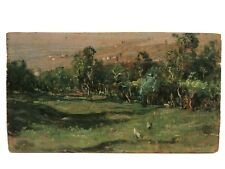 """1905 Landscape """"Napoli"""" By  Well Listed Italian Artist Giovanni Depetris"""