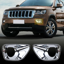 Chrome Front Foglight Lamp Cover Trim For Jeep Grand Cherokee 2011 2012 2013