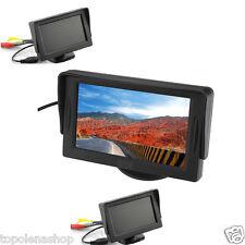 """MONITOR LCD TFT 4,3"""" A COLORI AUTO CAMPER PER TELECAMERA RETROMARCIA REAR VIEW"""