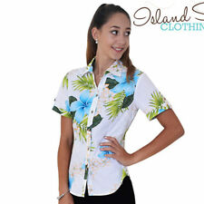 Floral 100% Cotton Button Down Shirt Tops for Women