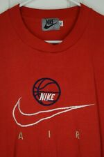 New listing Vintage Nike Air Red Embroidered Tee Mens Xl Single Stitch