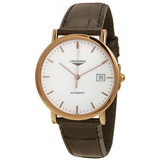Longines La Grande Classique Automatic White Dial Brown Leather  Mens Watch