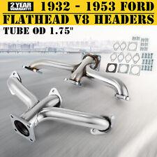 1932 - 1953 Ford Car Pickup Truck Flathead V8 Shorty Center Dump Exhaust Headers