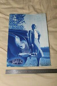 (MB2/E) Brochure Catalogue LINCOLN ZEPHYR V-12 / MATFORD LYON VEYET 1939