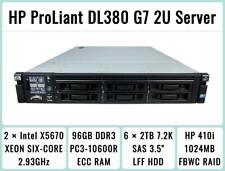 New ListingHp ProLiant Dl380 G7 Server 2×Six-Core Xeon 2.93Ghz + 96Gb Ram + 6×2Tb Sas Raid