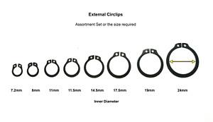 Circlips External Assortment Set DIN471. Shaft external tapered retaining rings