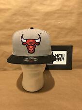 Chicago Bulls New Era 9FIFTY Performance Basic Snapback Grey/Black New With Tags