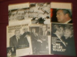 Raymond Burr - Clippings