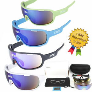 Men Women POC Sport Eyewear Sunglasses,goggles cycling Eyewear 5 Lens Bike