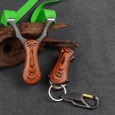 Plegable Madera de Acero Slingshot bandas de goma con Bolsillo Portátil Caza Catapulta