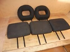 PEUGEOT 206 2004 SW ESTATE SET OF 5 BLACK TEXTILE HEADRESTS