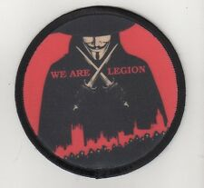 "We are legion ""patch Guy Fawkes/vendetta/Anonymous/masque/résistance"