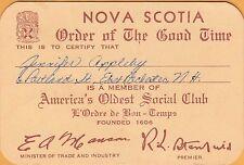 NOVA SCOTIA, CANADA ~ ORDER OF THE GOOD TIME ~AMERICA'S OLDEST SOCIAL CLUB~c1960