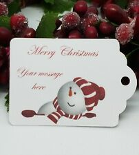 Personalised Christmas Tags Packs of 25/ 50 / 100