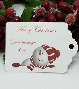 Personalised Christmas Tags Packs of 25/ 50 / 100