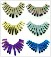 13pcs Multicolor Titanium Hematite Pendant necklace Loose beads B1