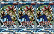 YuGiOh! Legend of Blue Eyes White Dragon New and Sealed YuGiOh Booster Packs x3