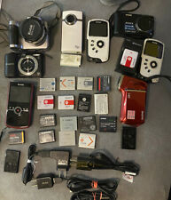Lot Of Cameras And Batteries For Parts , As Is