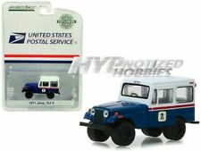 GREENLIGHT 1:64 1971 JEEP DJ-5 USPS HOBBY EXCLUSIVE BLUE W/ WHITE TOP 29998