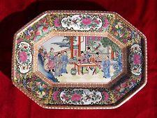 vintage chinese rose medallion platter