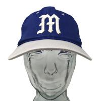 University of Maine Baseball Cap Embroidered M Blue OSFM Snapback Hat Youngan