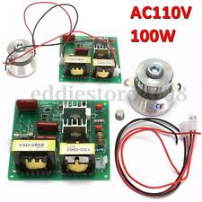 AC 110V 100W 40KHz Ultrasonic Cleaner Power Driver Board + 60W 40K Transducer