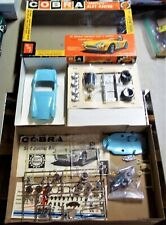 AMT VINTAGE 1/24 1/25 NEW 1966 COBRA ROADSTER SLOT CAR CHASSIS BOX + REVELL COX