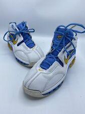 Nike Shox Elite Shoes White Maize Blue mens sz 9 309267-171 Denver Nuggets