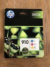 NEW Genuine HP 910 Color Ink Cartridges 3pk Cyan Yellow Magenta 3YN97AN SEP 2021