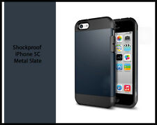 Tough Armor Hybrid Series Dual Case Cover for iPhone 5c Screen Protector Metal Slate