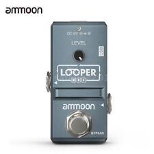ammoon Nano e-Gitarre Effekt Pedal Looper unbegrenzte Overdub mit USB-Kabel E3W3
