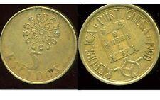 PORTUGAL 5 escudos 1990   ( bis )