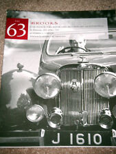 BROOKS AUCTION CATALOGUE 1997 No63 JAGUAR ETYPE JENSEN INTERCEPTOR MASERATI A6G