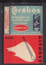 Ancienne étiquette paquet Allumette Sel Cérébos 3