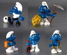 Vintage Smurfs / Schtroumpfs, © Peyo, Schleich, West Germany, 1974-1981, 5 pcs