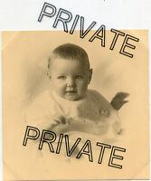 Vintage Photo - Very Cute Baby - Light Eyes - Half Smile