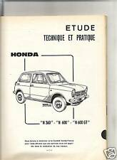 RTA REVUE TECHNIQUE AUTOMOBILE 1969 - HONDA N 360 / N 600 / N 600 GT