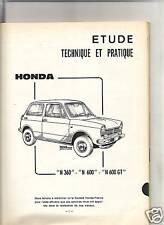 RTA REVUE TECHNIQUE AUTOMOBILE 1969 - HONDA N 360 / N 600 / N 600 GT