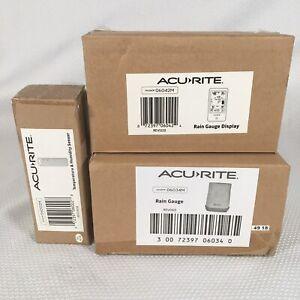 AcuRite Wireless Rain Gauge + Display + Temperature & Humidity Sensor New In Box