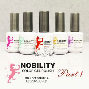 LeChat Nobility > PART 1 Soak Off LED/UV Gel Color Polish 15 mL/0.5 oz SHIP 24H