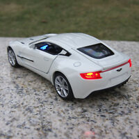 Toys Model Cars Aston Martin ONE-77 1:32 Sound & Light Alloy Diecast White Gifts
