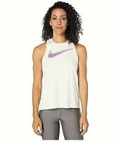 Nike Top Logo Dri-FIT Surplice Running Tank White Sz S NEW NWT 457